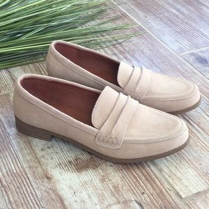 NWT universal thread tan leather loafers Sz 8.5